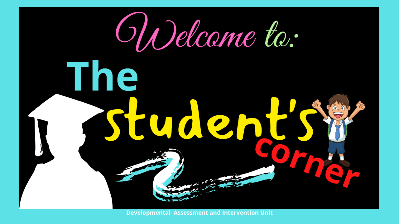 Welcome to The Student's Corner